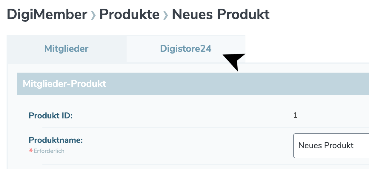 Digistore24 Tab